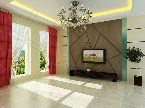海藻泥; 绿森林硅藻泥效果图; 精美硅藻泥电视背景墙