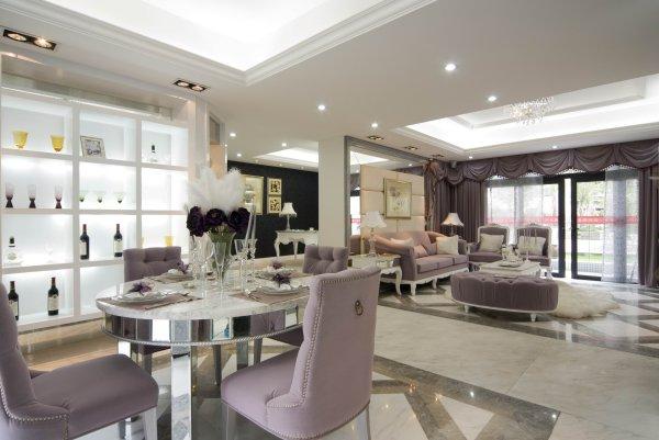 欧式白色风格室内装修桌面壁纸 客厅饭厅效果图图片 设计图