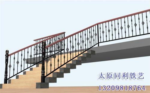欧式铁艺艺术楼梯扶手-15-【欧式铁艺楼梯扶手】