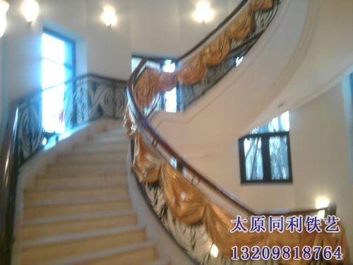 欧式铁艺艺术楼梯扶手-22-【欧式铁艺楼梯扶手】