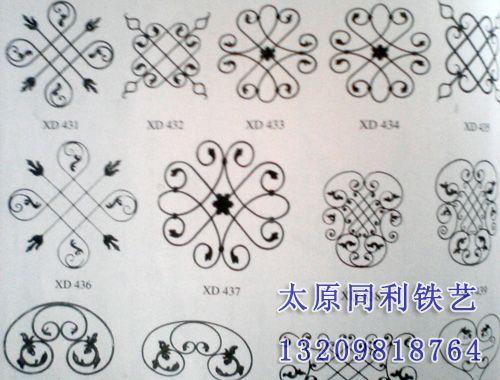 铁艺阳台护栏矢量图