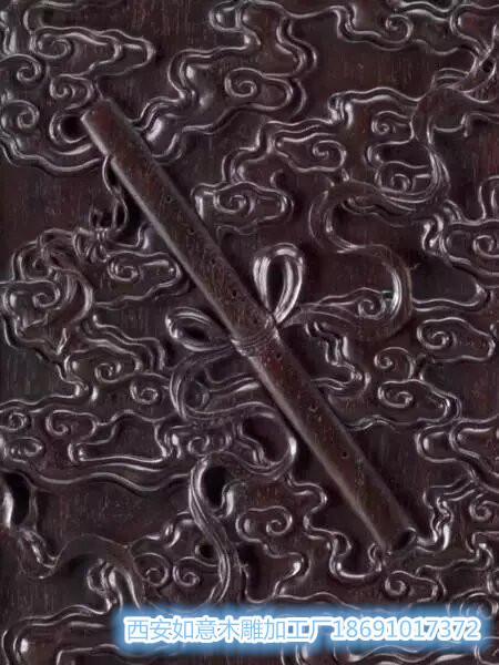西北仿古木雕加工厂为您贡献:木雕作品上的佛道八宝