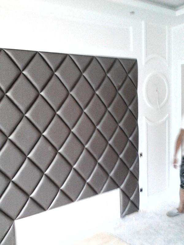 全新欧式 现代软包背景墙
