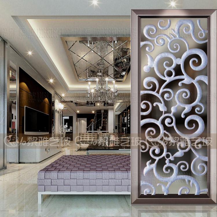 艺术玻璃电视沙发背景玻璃墙