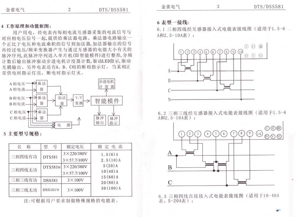 三相四线电子式电能表